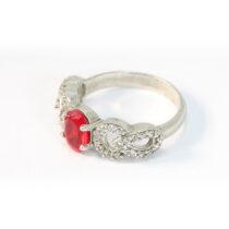 انگشتر جواهری نگین یاقوت سرخ سنتاتیک و اتمی