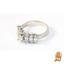 انگشتر جواهری نگین اتمی